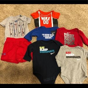 Nike and Under Armour Onesies